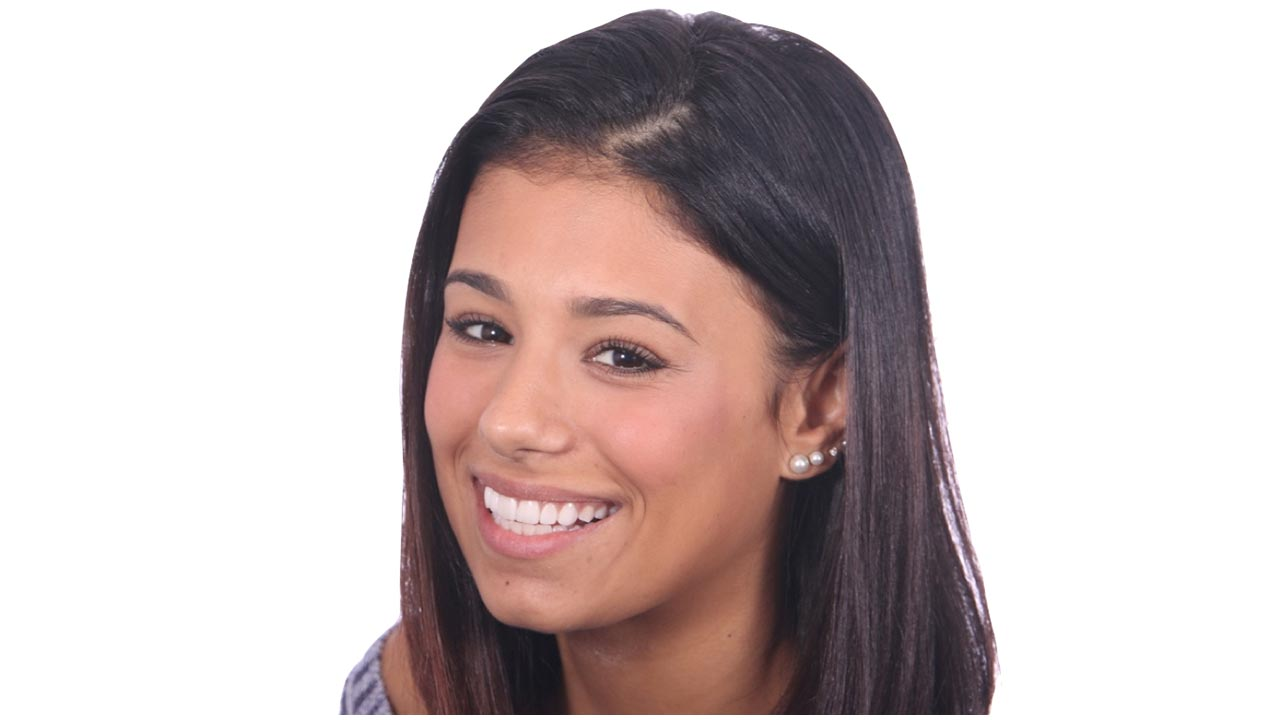 Young Woman Smiling with White Background
